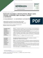 2011_SEMERGEN_Exploración neurológica y AP I. pares craneales, sensibilidad, signos meningeos, coordinación_García