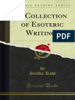A Collection of Esoteric Writings - SUBBA ROW
