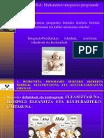 Hizkuntzen integrazio-programak eskolan