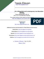 Foucault's Biopolitics and the Contemporary Neoliberalism Debate (Flew)