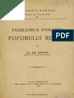 Problemele evoluţiei poporului român