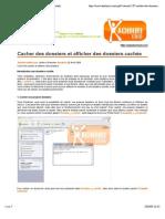 Afficher les fichiers et dossiers cachés - Windows 7
