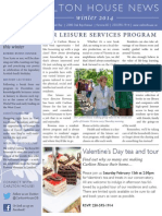 Carlton House Winter 2014 Newsletter