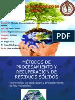 Metodos de procesamiento y recuperación de residuos solidos