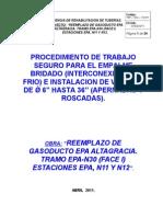Pts 016m Empalme Bridado Interconexiones en Frio e Instalacion de Valvula de 2