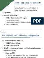 Uruguay Argentina Crisis&Links