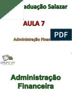 Aula 7 - Administração Financeira
