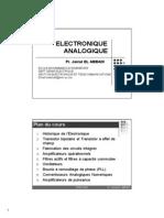 ElectroniqueAnalogique_1;Prof EL ABBADI