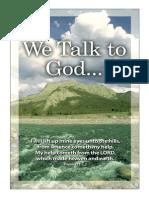 We talk to God