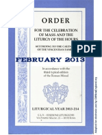ORDO 2013/2014 Order for celebrations in February