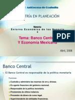 Banco Central y Economia Mexicana