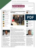 30-01-2014 'Constata Protección Civil que apoyo llegue a desprotegidos'
