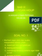 Ulangan harian IPS - Kls 8 - Bab 3 - Lingkungan Hidup - Part 1