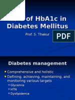 Role of HbA1c in Diabetes Mellitus