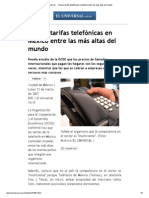 El Universal - - Ubican tarifas telefónicas en México entre las más altas del mundo.pdf