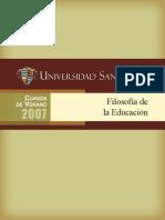 Santander AntologiaFilosofiadelaEducacion