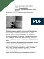Intervención Terapéutica en niños Víctimas de Abuso