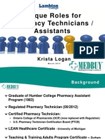 Unique Roles Pharmacy Technicians and As