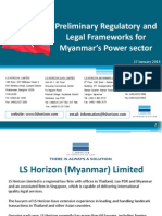 L S Horizon LSH Presentation - Power Project in Myanmar (23 Jan 14)
