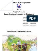 Agro products to singapore
