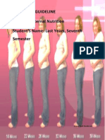 Student Guideline Maternal Nutrition 2011