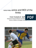 Biomechanics and MOI of the Ankle