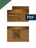 importante - Materiais de Construção I slides