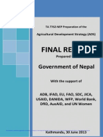 Agriculture development strategy 2013-Nepal