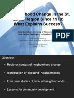 Neighborhood Change in the St.  Louis Region Since 1970