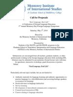 [Edited]2014 FL Symposium Call for Proposals