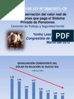PL de preservación del valor real de las pensiones que paga el Sistema Privado de Pensiones.