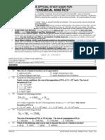 Reaction Kinetics Study Guide - Multiple Choice