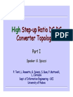 High Step Up Ratio DC DC Converters Part_I