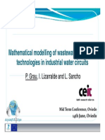 Math Modelling of Ww Treatment Technologies in Industrial Water