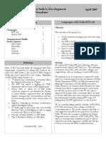 AID Delhi newsletter April 2007