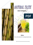 Sugarcane juice in tetra pack