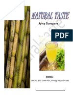 Sugarcane juice in tetra pack