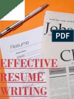 Effective Resume Writting
