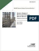 NEHRP Seismic Design Reinforced Concrete Special Moment Frame SMF