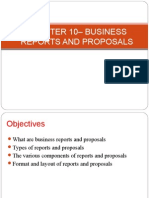 Lecture 8 – BUSINESS REPORTS AND PROPOSALS