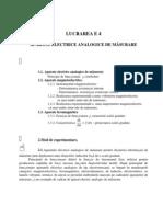 Masurari Electrice L4 - Aparate Electrice Analogice de Masurare