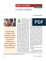 Malnutrition in Indian Children