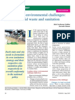 Urban Environmental Challenges Yojana June 2013