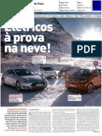"NISSAN LEAF FRENTE AO BMW i3, MITSUBISHI i-MIEV E TESLA MODEL S P85 NA ""AUTO FOCO"""