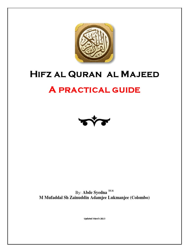 A Practical Guide for Hifz Ul Quran | Quran | Qur'an