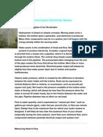 Micro Hydro Electricity Basics