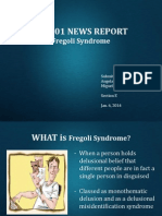 Fregoli Syndrome- Psych Reporting