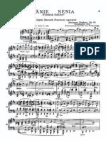 Brahms - Nänie, Op. 82 - Spartito canto e pf