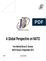 A Global Perspective on NATO Vice Admiral Bruce E. Grooms