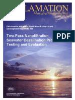 Report158 Two Pass Nanofiltration Seawater Desalination